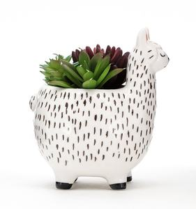 Best selling 3d animal instagram ceramic mini succulent plant pot customized