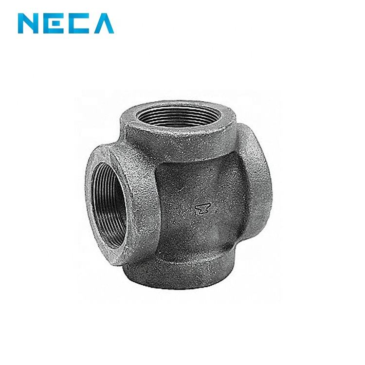 Weld Casting Iron 4 Way Pipe Fitting Cross For Plumbing Pipe