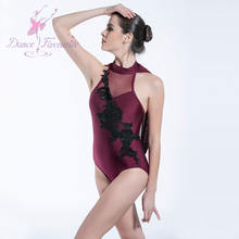 19617-4 Dance Favourite ballet dance wear burgundy spandex leotard for girls and women ballet, Lyrical and Contemporary dance