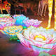 Chinese outdoor festival lanterns with led flower lanterns show art