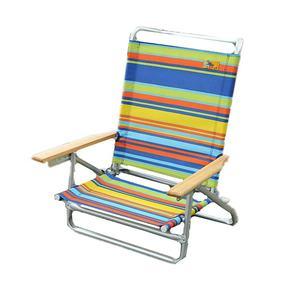 Adjustable Reclining Lightweight Aluminium Folding Beach Chair for Outdoor