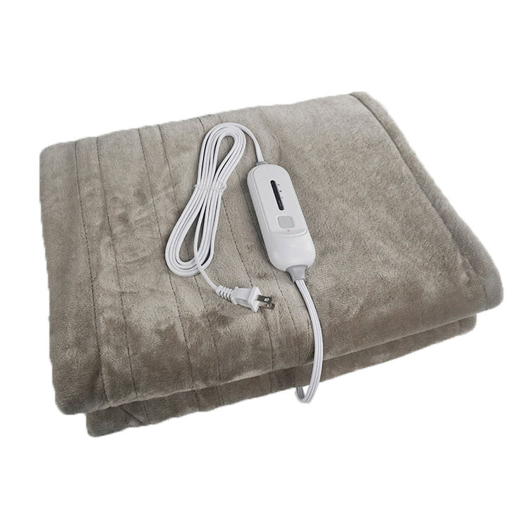 OEM 110V Cheap Heating Throw Blanket Super Cosy Flannel Double Side Electric Heating Throw For Body Warmer