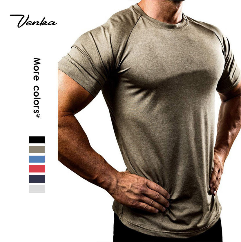 2020 Gym Clothing Mens Tops Bodybuilding Fitness Muscle Showing Compressed Coach Gym Wear Men's Shirts
