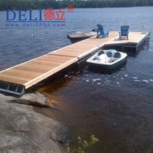 Multi color customized  panel decking  marina maintenance free buoyancy pontoon floating Jetty