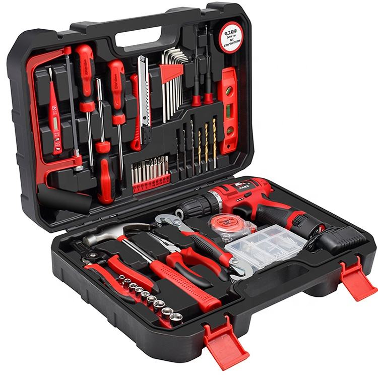 Kafuwell Hot selling Multi Function 109pcs Lithium Electric Drill Tools Set power tools set combo
