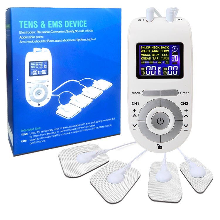 Masajeador Massage Machine Electrical Muscle Stimulator Electroestimulador Wrist Waist Back Therapy Device Electrodes Tens