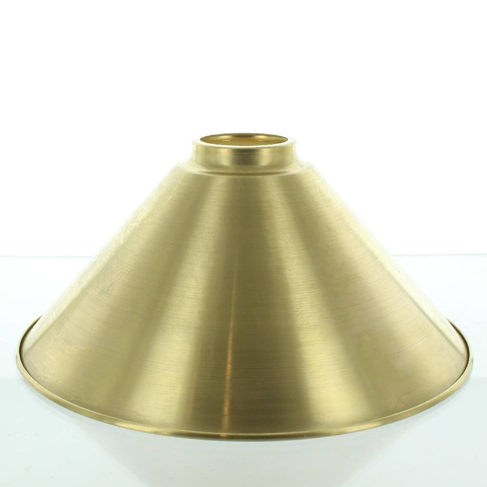 high quality CNC machined solid brass lighting component cone lamp shade with neck