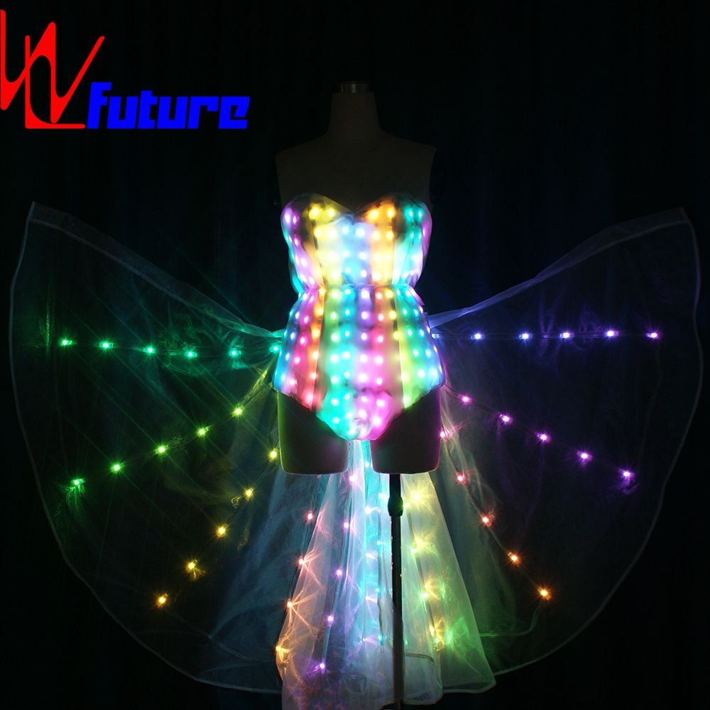 led skier led costumes led light up suit light up tron costumes led accessories clothing led dance suit with Isis wings