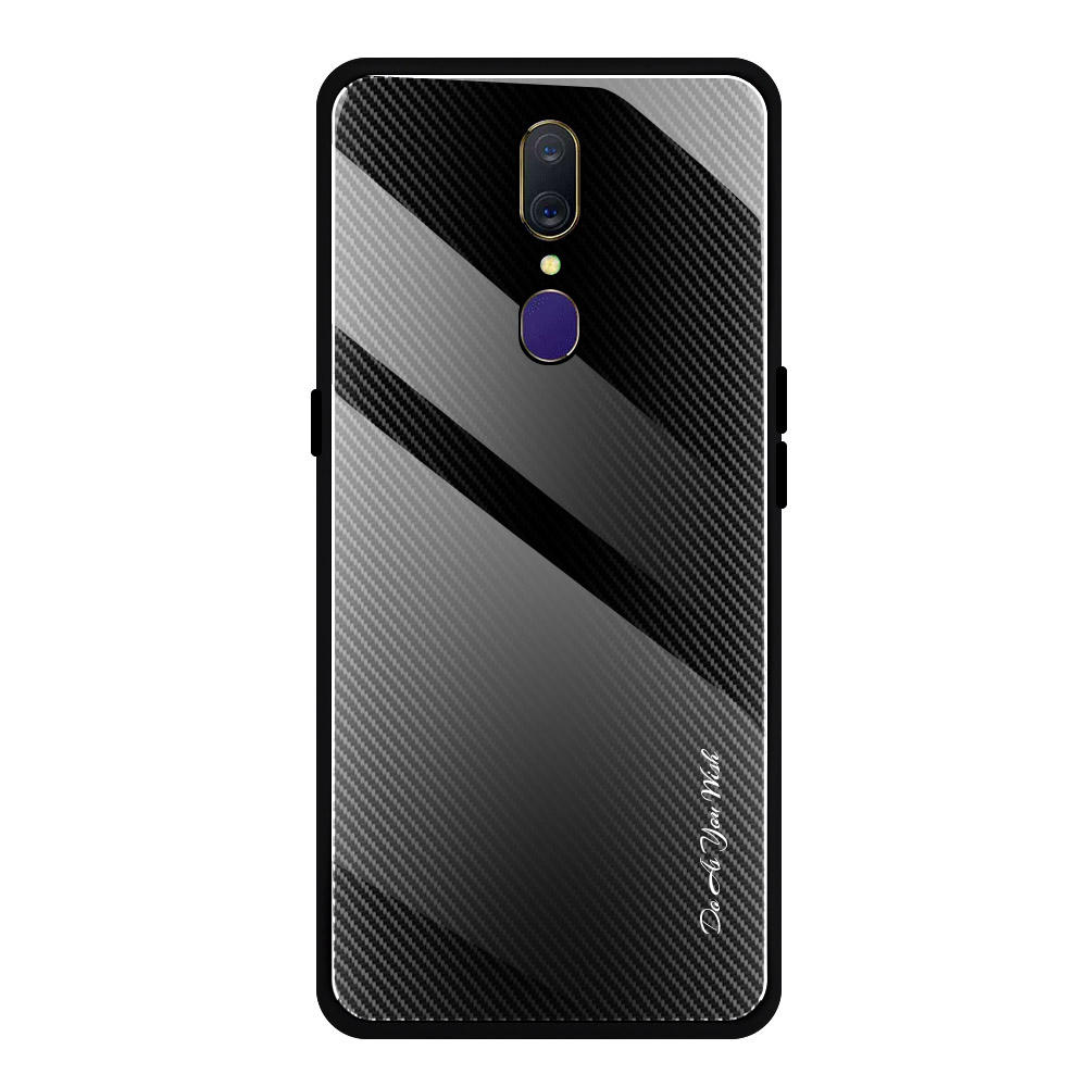 Designer Luxury Tempered Glass Phone Protective Shell For oppo A9 Case