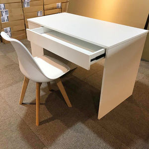 Cheap Wooden White Computer Desk With Storage Space