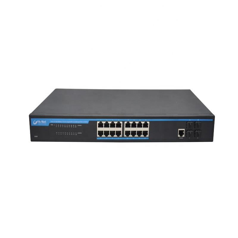 16x10/100/1000M RJ45 +4G SFP L2 managed Ethernet Switch