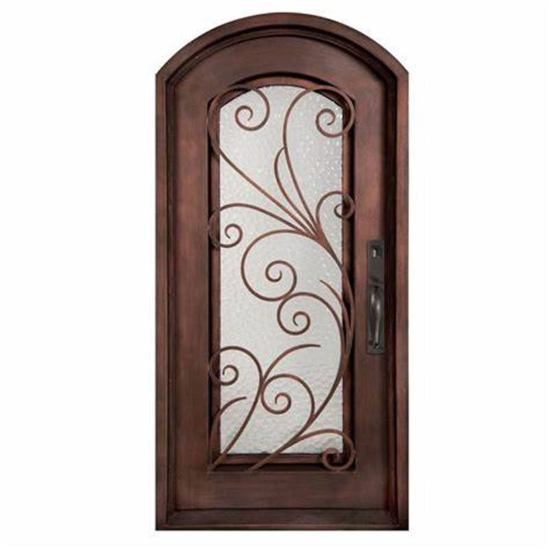 Swiss Customized Metal Door Modern Design Wrought Iron Door