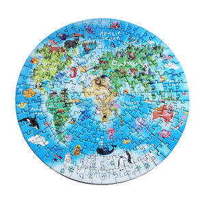 Circular paper cardboard round Jigsaw Puzzle manufactory with small MOQ