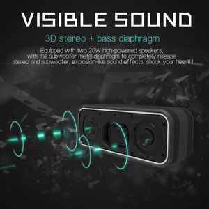 Terbaik Penjual Boombox Mini Portable Tweeter 40W Big Power Super Bass Speaker IP7 Bluetooth Speaker Tahan Air