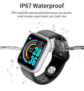 Full touch smart uhr outdoor tasche wasserdicht led smartwatch Y68/D20 fit bit smart uhr