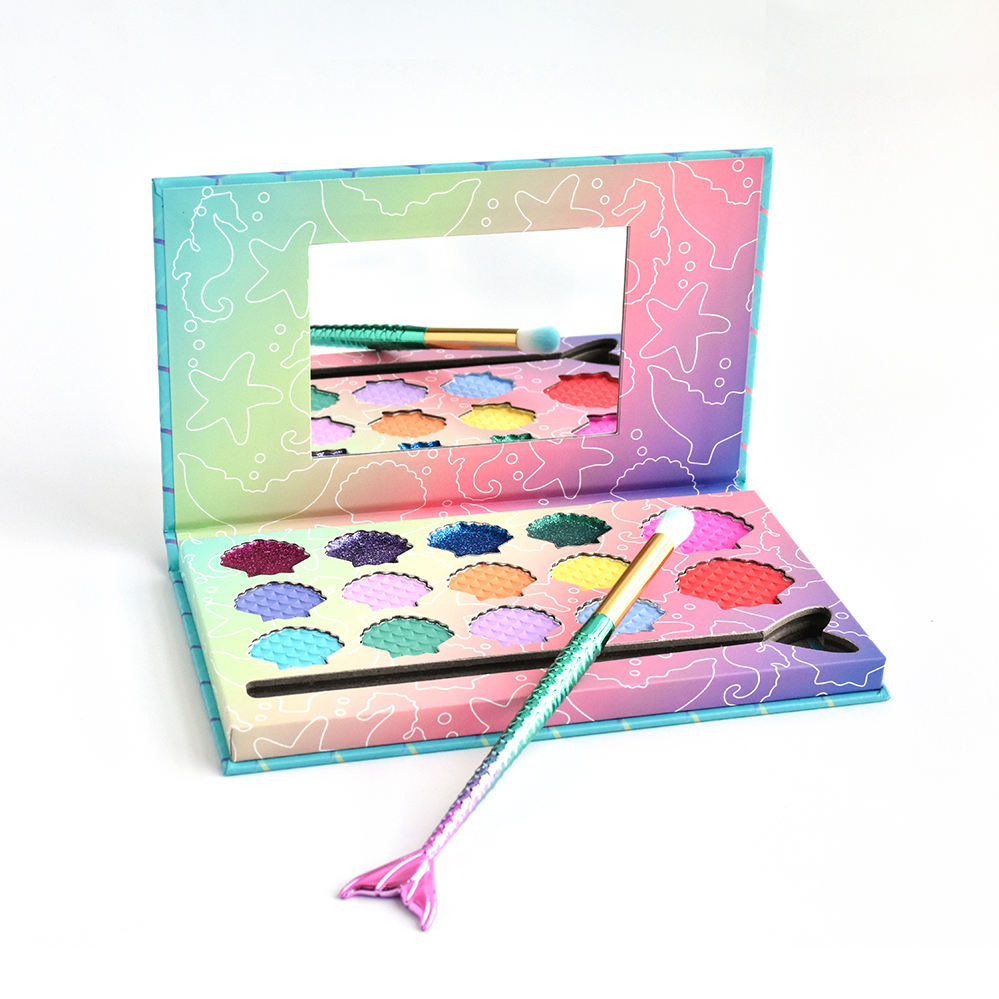 Akiaco Hoge Kwaliteit Private Label Custom Natural Eyeshadow Palette Oogschaduw Make-Up Voor Kids