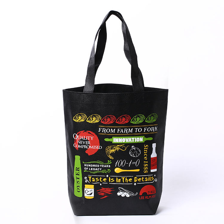 Wholesale cheap custom logo screen printed shopping tote cheap non woven bag
