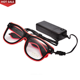 Hot novelty multi color el wire neon glow eyeglasses flashing rave birthday party led glasses for festival