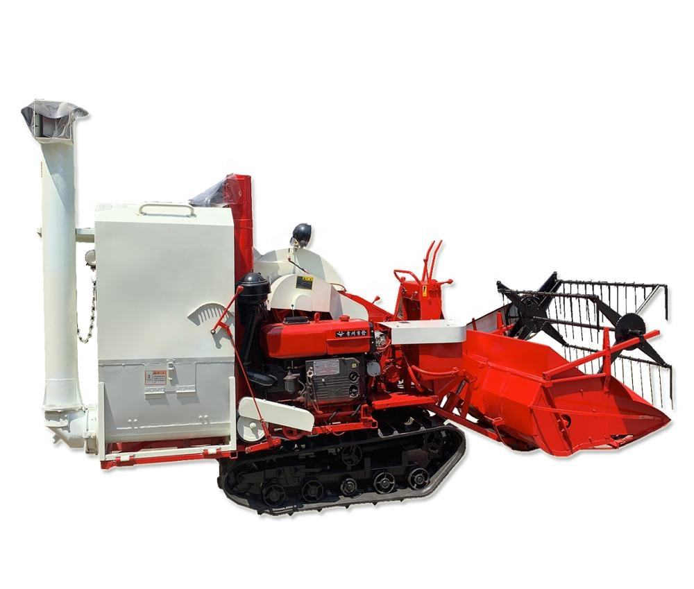 Automatic discharge paddy rice combine harvester / rice wheat harvesting machine