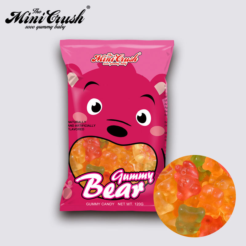 Gummy bear candy Chinese manufacturers soft candy sweet