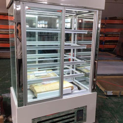 Fan cooling refrigerated bakery display cases/front open cake fridge
