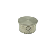 flat top tube fitting solid round end cap for pipe