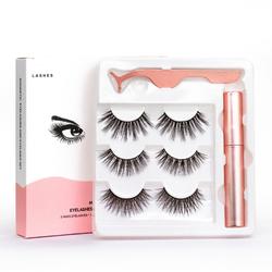 Sell Well New Type 3 Magnetic Eyelashes With Magnetic Eyeliner Tweezer Set