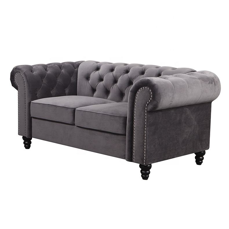 Signature style Chesterfield style 2 seater living room sofa Designs Loveseats