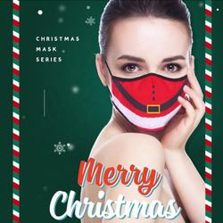 Customize LOGO Reusable Washable Dust Face Maskes Shield Outdoor Anti-Dust Christmas Face Maskes For Party Accessories