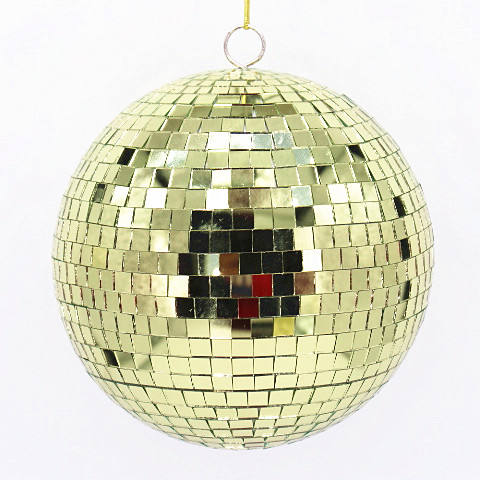 200mm Spiegel Ball Indoor Ornament Gold Disco Ball Weihnachten Ornament
