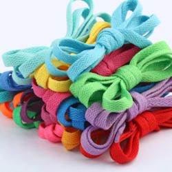 Best seller 8mm flat shoelaces Sneaker shoe laces colorful Decorative Shoelaces