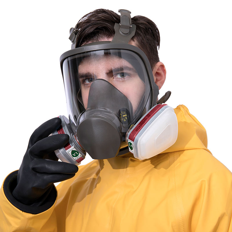 Full Face Emergency Safety Cartridges Full Gas Mask with activated carbon filter gas mask