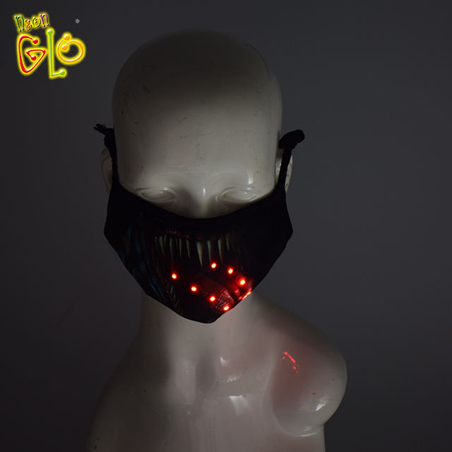 China Manufacturers wholesale halloween facial led masquerade mask