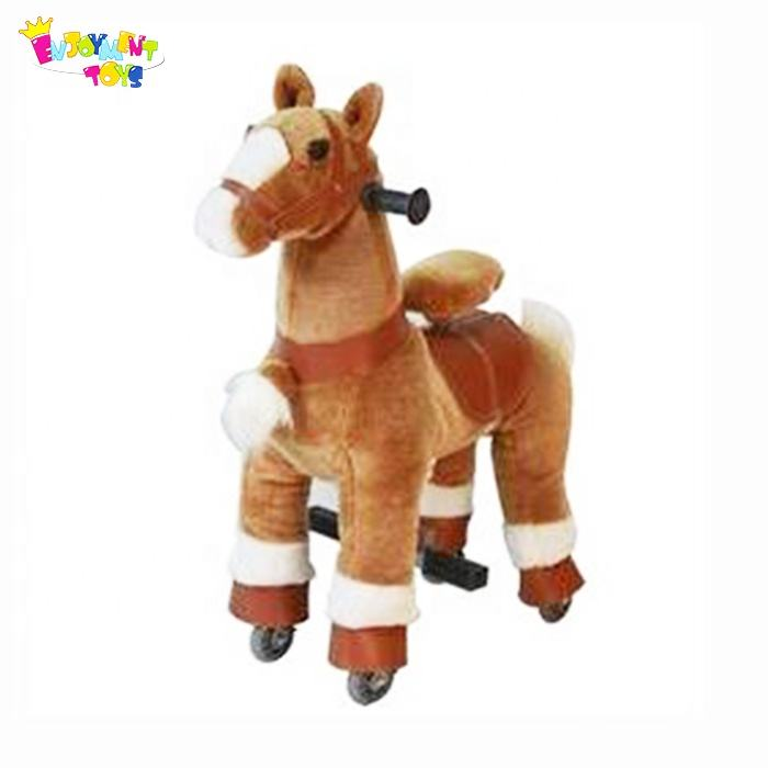 Enjoyment CE plush mechanical running horse toy for sale