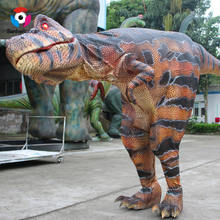Artificial Realistic Animatronic  Dinosaur Costume Traje De Dinosaurio T Rex For Adults