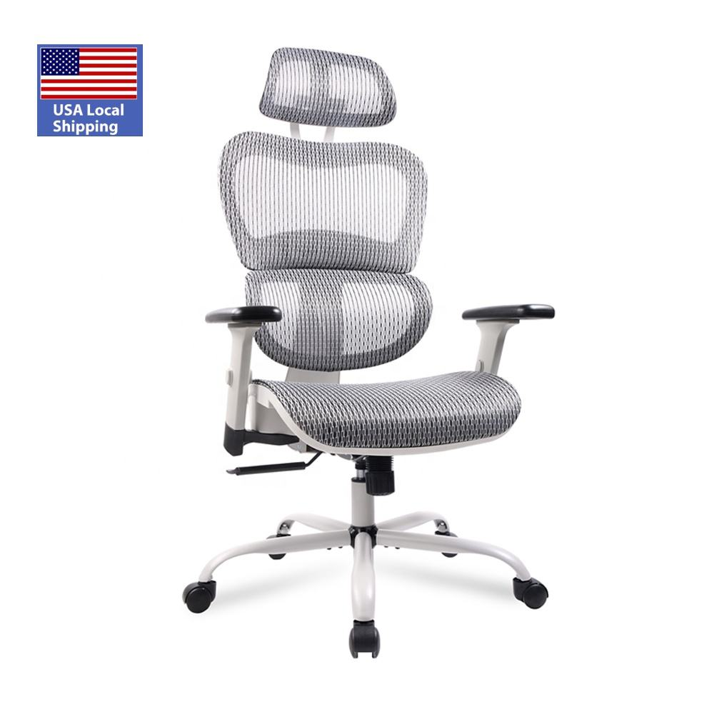USA Stock Chinese manufacturer Fast Dispatch Executive High Back Chair full mesh office chair with Lumbar Support