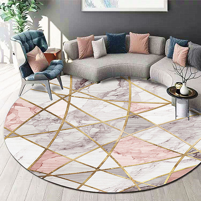 New design living room decor round floor mat digital printing round carpet with patterns
