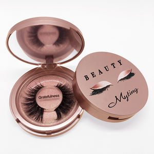 Muting Eye Lash Case Blink Flat Private Label 3D Wholesale Strip Volume Lashes Custom Cruelty Free False Eyelashes Mink