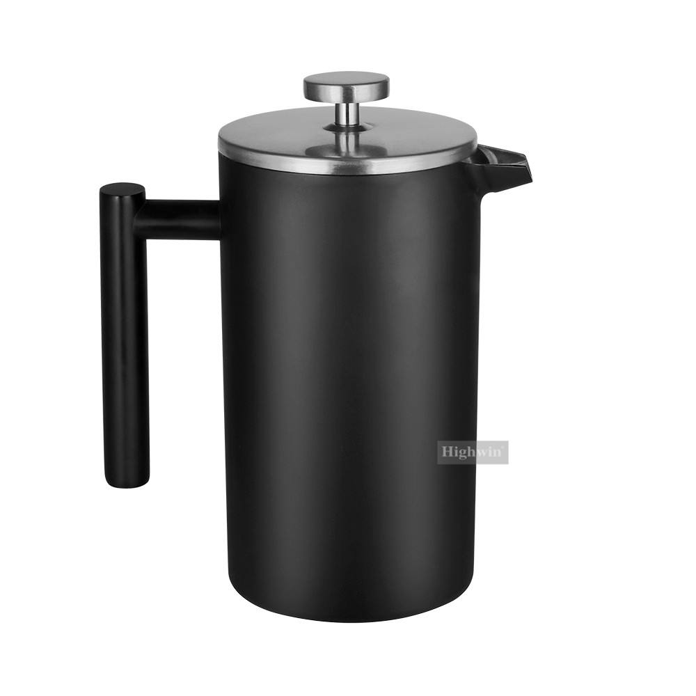 1000 Ml TERBAIK Stainless Steel Kopi Pyrex Coffee Plunger Stainless Steel Filter Bahasa Perancis Tekan