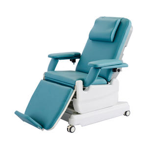 Electric Adjustable Hospital Medical Patient Blood Collection Donor Dialysis Chair Donation Drawing Couch Manufacturer