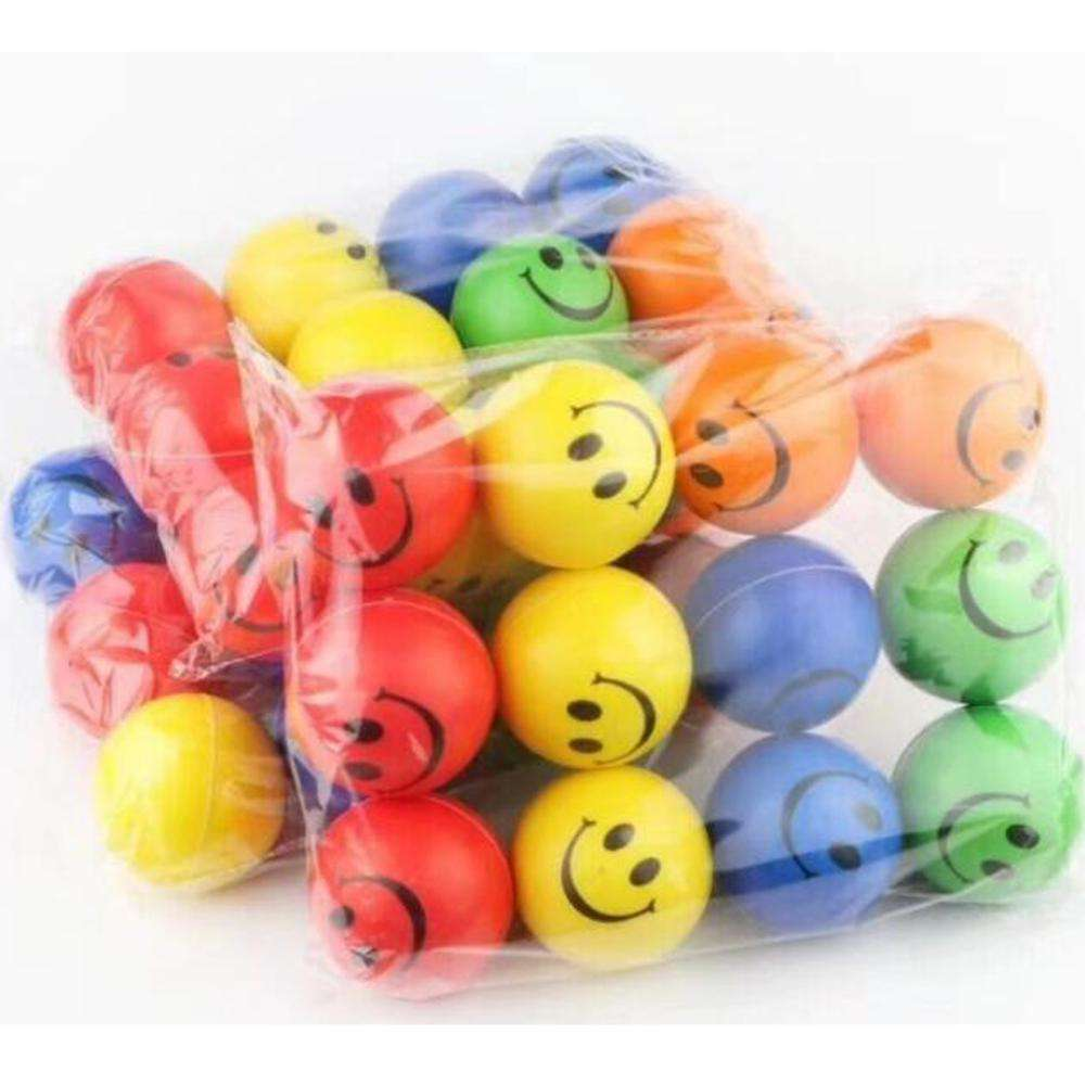 6.3CM Foam PU Stress Release Smiling Face Ball、Soft Foam Smile Face Ball