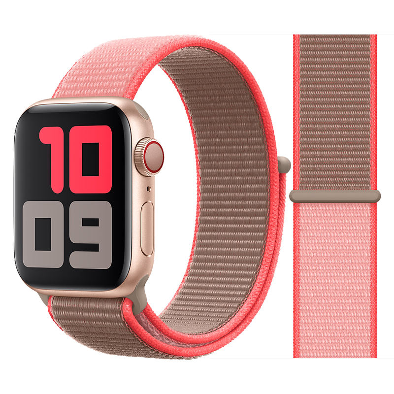 HuaMJ Nylon Watch Band Nylon Loop Watch Band 44mm Strap For Apple Watch