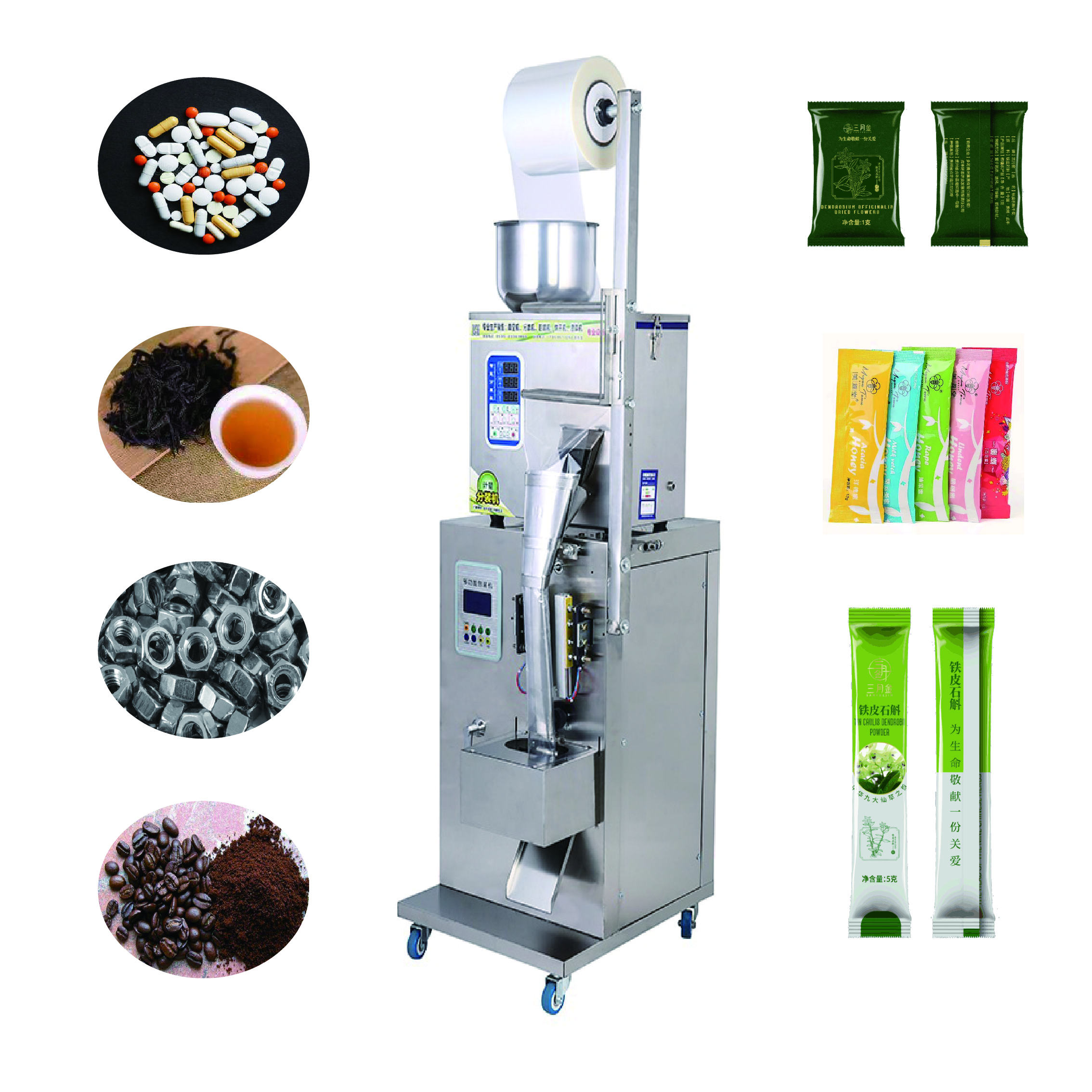 Small sachets spices powder filling machine coffee packing tea bag packing