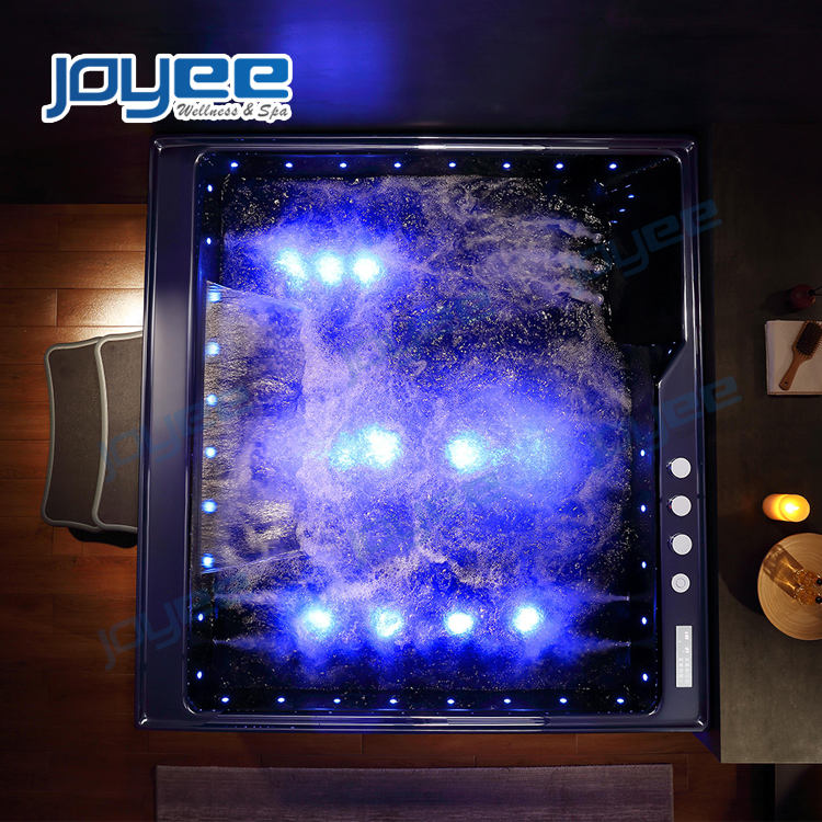 JOYEE luxury 3 4 5 person hot tub jacuzzi function with LED air massage jets indoor massage bathtub home whirlpool