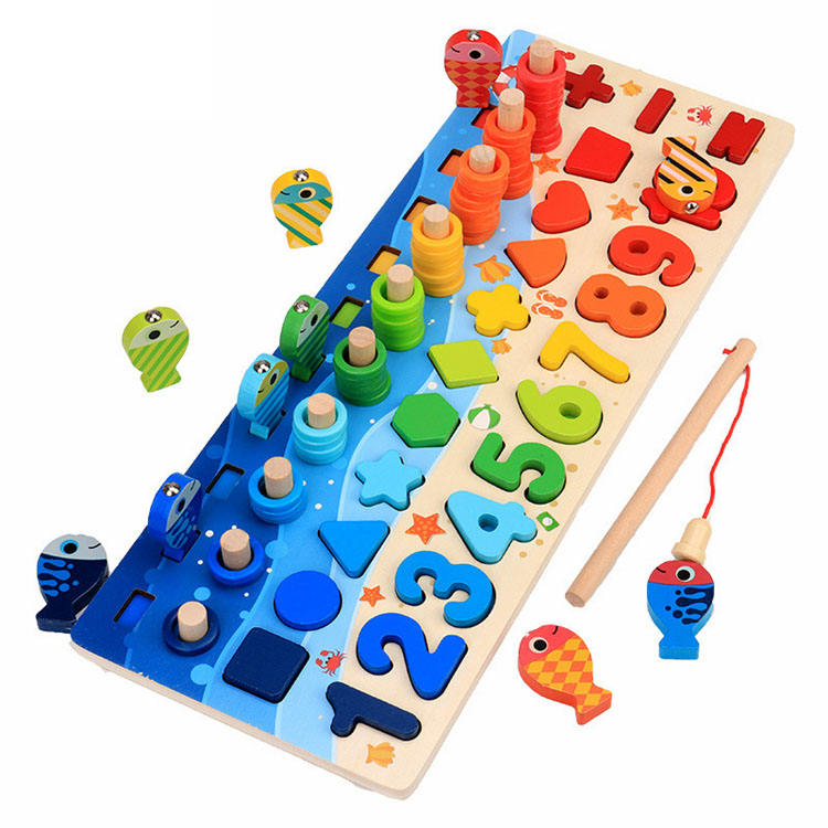 Wholesale Factory Price Best Selling Baby Toddler Kids Intelligent Teaching Jigsaw Puzzle Montessori Wooden Educational Toys