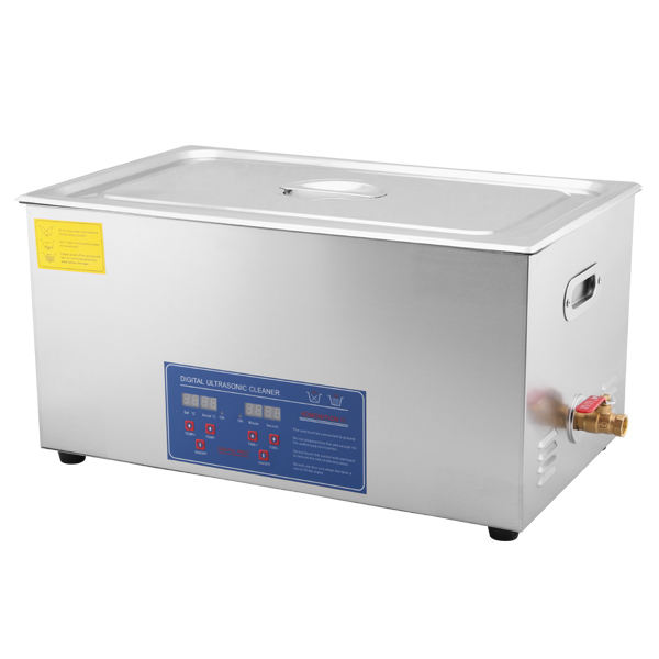 30L Ultrasonic Cleaner Solution Heated Ultrasonic Cleaner for Jewelry Watch Cleaning Industry Heated Heater with Drainage