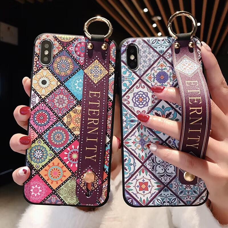 Creative mobile phone pouch cell phone case with Wrist band ring buckle For iphoneX/ XS MAX Phone Cover For 6/6s plus/7/8plus