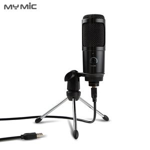 New model BM009U condenser studio recording mic USB microphone with tripod stand for broadcasting gaming