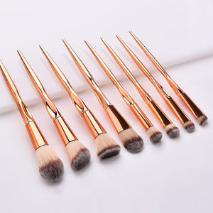 Premium Rose Gold Private Label Makeup Brush Set 8 pcs Make up Brush Kit