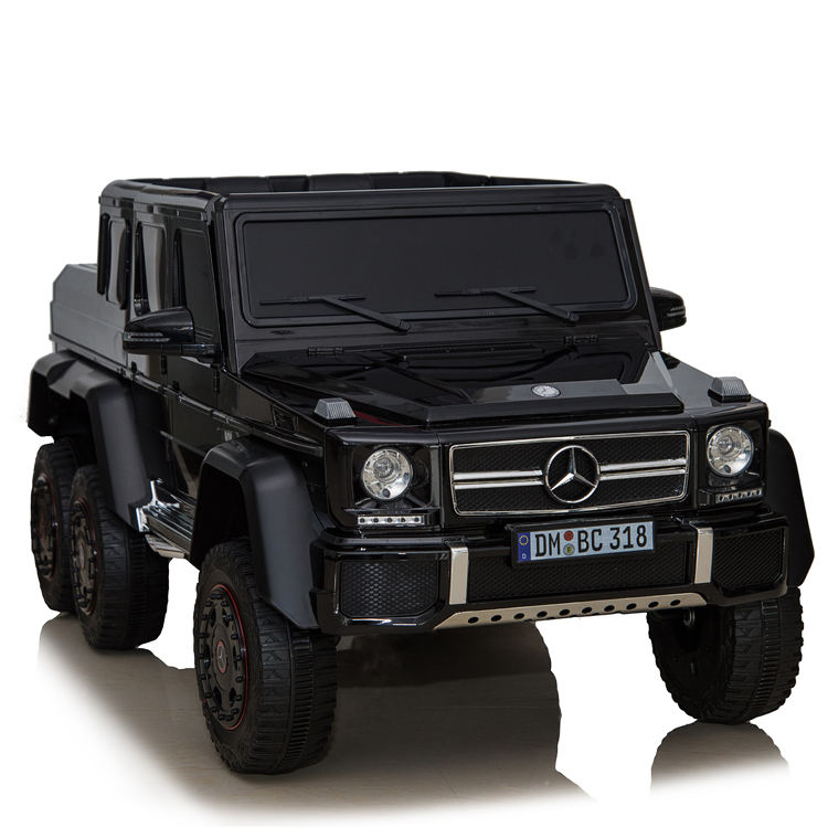 Licensed Mercedes Benz AMG G63 6x6 Kids Ride On Car with 2.4G Remote Control, 12V 4 Motors, Pull Handle,